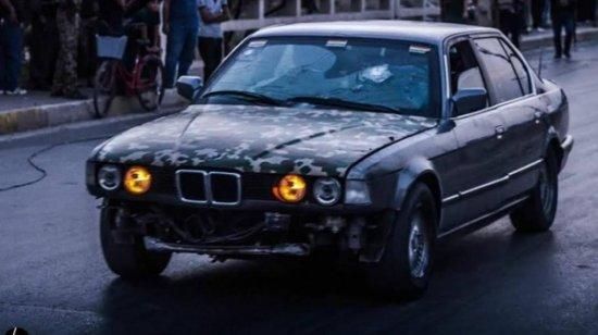 на бронированном BMW