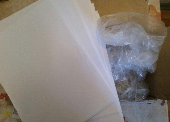 набор чистых листов А4