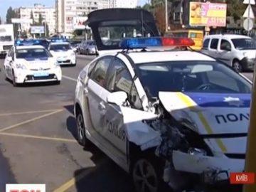 патрульный автомобиль попал в аварию