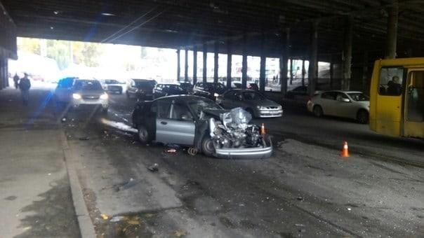 авария с участием трех авто