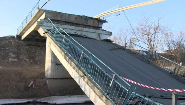 рухнул мост через Днестр