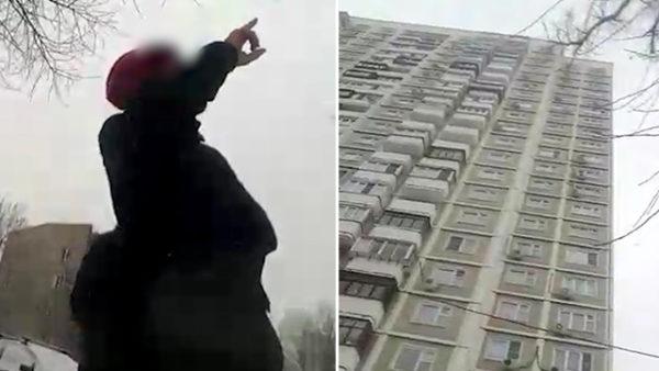 пожилая женщина грозится выпрыгнуть из окна - соцсети