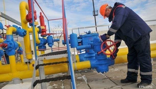 Запасы газа в ПГХ Украины