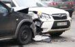 В Киеве cтолкнулись Subaru и Renault: образовалась тянучка
